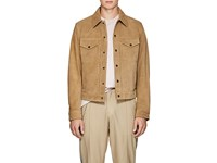 Rag And Bone Suede Trucker Jacket Beige Tan
