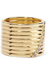 Elizabeth And James Vago Gold Tone Crystal Ring Gold