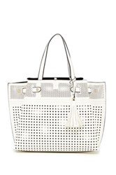 Urban Expressions Cadence Perforated Tote Bag White