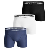 Bjorn Borg Noos Plain Trunks Pack Of 3 Black White Blue