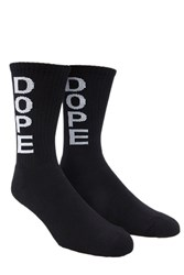 Forever 21 Dope Superior Crew Socks Black White