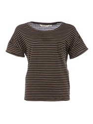Garcia Cotton Striped T Shirt Black