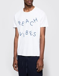 Quality Peoples Beach Vibes Crew T Shirt White
