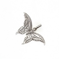The Wildness Jewellery Butterfly Pendant Silver