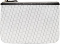 Pierre Hardy White And Grey Perspective Cube Zip Pouch