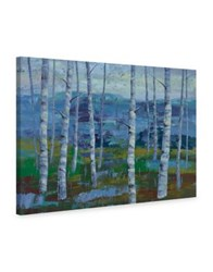 Marmont Hill Twilight Grove I Painting Print On Wrapped Canvas Blue