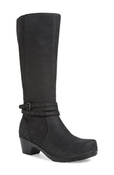 Dansko 'Myrna' Boot Women Black Milled Nubuck