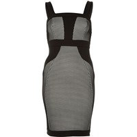 River Island Womens Black Scuba Bodycon Pencil Dress