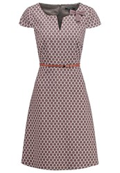 Comma Summer Dress Grey Black