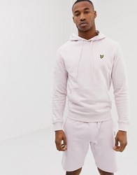 Lyle And Scott Overhead Logo Hoodie In Pink
