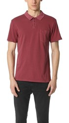 Rvca Ptc Pigment Polo Rosewood