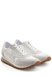 Marc Jacobs Leather And Suede Sneakers White