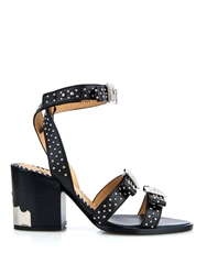 Toga Studded Leather Block Heel Sandals