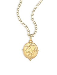Temple St. Clair Diamond And 18K Yellow Gold Dragonfly Locket