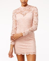Material Girl Juniors' Lace Bodycon Dress Only At Macy's Misty Rose