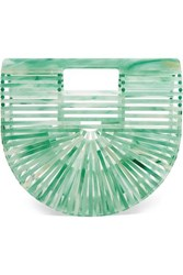 Cult Gaia Ark Mini Acrylic Clutch Green