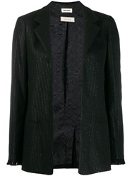 Zadig And Voltaire Lurex Pinstripe Blazer Black
