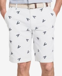 Izod Men's Lobster Print Shorts Bright White