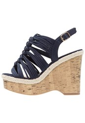 New Look Wide Fit Ocean Wedge Sandals Blue