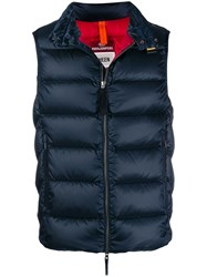 Parajumpers Zipped Padded Gilet Blue