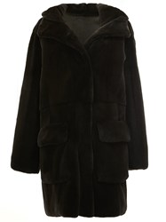32 Paradis Sprung Freres Reversible Hooded Coat Black