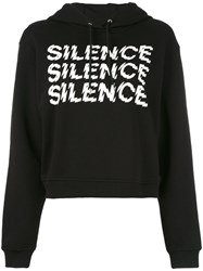 Mcq By Alexander Mcqueen Silence Cropped Hoodie Women Cotton M Black
