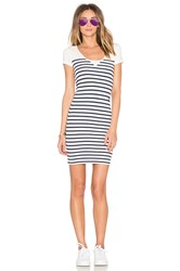 G Star Short Sleeve Stripe Dress White