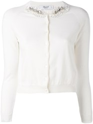 Blugirl Embellished Cardigan Women Cotton 40 White