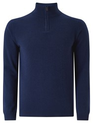 John Lewis Made In Italy Cashmere Zip Jumper Navy