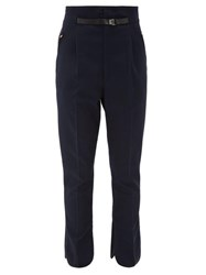 Toga High Rise Belted Trousers Navy
