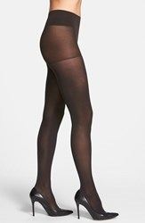 Dkny Plus Size Women's Opaque Control Top Tights Black