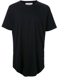 Strateas Carlucci 'Raw' Scoop Neck T Shirt Black