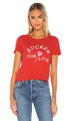 Wildfox Couture Sucker For Love Sydney Tee In Red. Tango