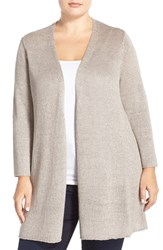 Plus Size Women's Eileen Fisher Chainette Knit Straight Cardigan