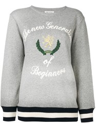 Dondup Embroidered Sweatshirt Grey