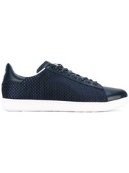 Armani Jeans Woven Panel Sneakers Blue