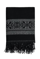 Forever 21 Fringed Tribal Inspired Shawl Black Cream