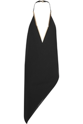 Anthony Vaccarello Asymmetric Wool Crepe Mini Dress