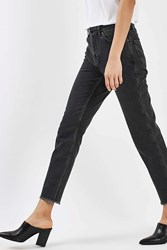 Topshop Washed Straight Leg Jeans By Boutique Charcoal