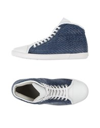 Giorgio Armani Footwear High Tops And Trainers Men Dark Blue