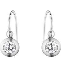 Georg Jensen Aurora 18Ct White Gold And Diamond Hook Drop Earrings