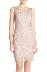 Pisarro Nights Women's Embellished Mesh Sheath Dress Light Lavender