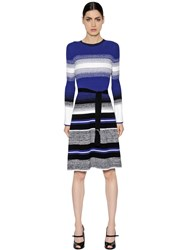 Sportmax Striped Stretch Rib Knit Dress