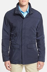 Men's Big And Tall Cutter And Buck 'Weathertec Birch Bay' Water Resistant Jacket Liberty Navy
