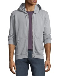 Atm Anthony Thomas Melillo French Terry Zip Front Hoodie Gray