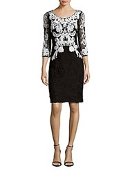 Js Collection Colorblock Lace Dress Black White