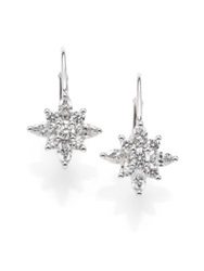 Kwiat Diamond And Platinum Star Drop Earrings White Diamond