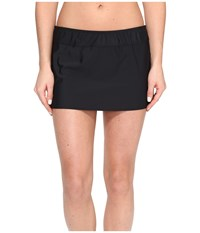 Athena Solids A Line Skirt Cover Up Black Women's Swimwear