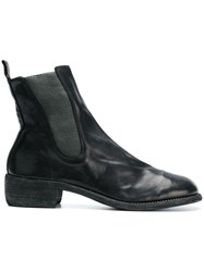 Guidi Chunky Heel Chelsea Boots Black
