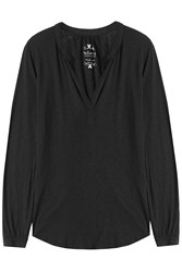 Velvet Jersey Tunic Top Black